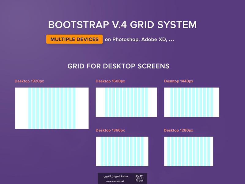 التقسيم الشبكي Grid System في بوتستراب 4 , كل ما تحتاج معرفته