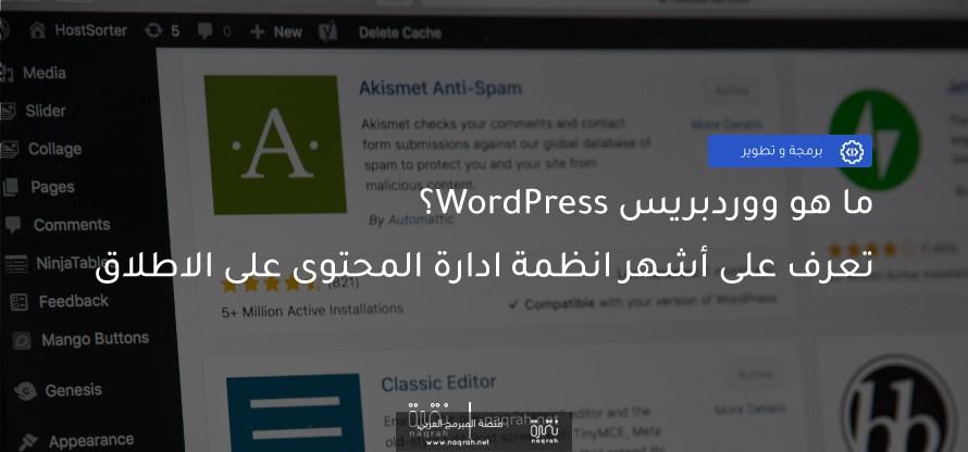 ما هو ووردبريس WordPress؟ تعرف على اشهر انظمة ادارة المحتوى على الاطلاق